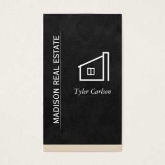 Tarjeta De Visita Negro alise/ajuste beige/el logotipo casero