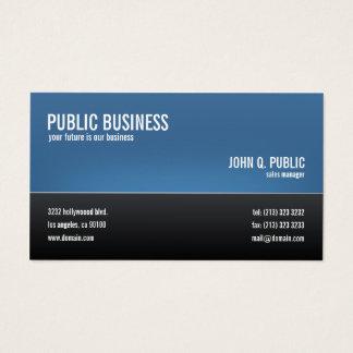 Tarjeta De Visita Negro corporativo moderno y azul