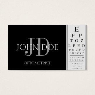 Tarjeta De Visita Negro de la carta del optometrista
