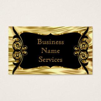 Tarjeta De Visita Negro elegante moderno del oro de Deco del negocio