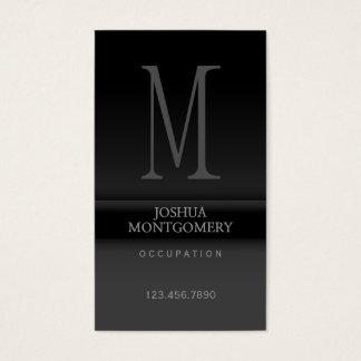 Tarjeta De Visita Negro elegante profesional del diseño de la