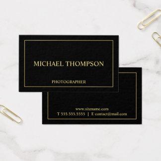 Tarjeta De Visita Negro elegante profesional y oro