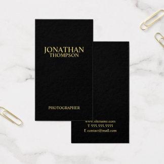 Tarjeta De Visita Negro minimalista profesional y oro