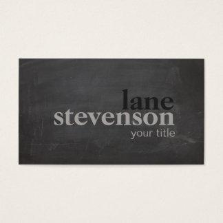 Tarjeta De Visita Negro rústico de la tipografía intrépida simple y