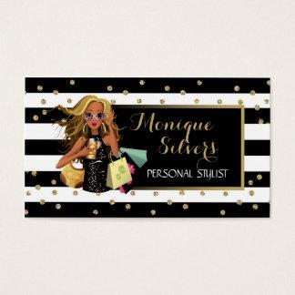 Tarjeta De Visita Negro y blanco/tarjeta de visita lista del