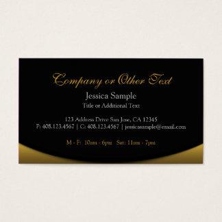 Tarjeta De Visita Negro y oro
