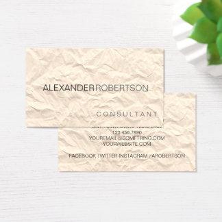 Tarjeta De Visita Nombre moderno minimalista de papel de dos tonos