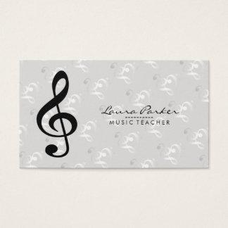 Tarjeta De Visita Notas de la música para el profesor del músico