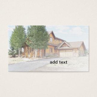 Tarjeta De Visita nueva casa rústica del estilo en Colorado