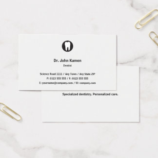 Tarjeta De Visita Obra clásica clásica del dentista el |
