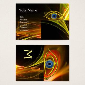Tarjeta De Visita Oculista AZUL, oftálmico, símbolo del oculista,