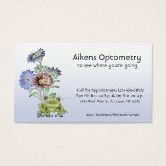 Tarjeta De Visita Oftalmólogo, optometrista, rana del óptico