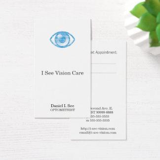 Tarjeta De Visita Ojo-Estafa azul del estilo de la prensa de copiar