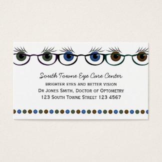 Tarjeta De Visita Ojos en gafas