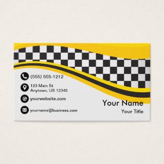 Tarjeta De Visita Onda del taxi