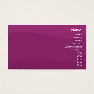 Tarjeta De Visita Onda púrpura - negocio