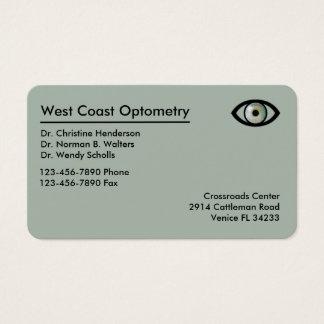 Tarjeta De Visita Optometrista Businesscards moderno