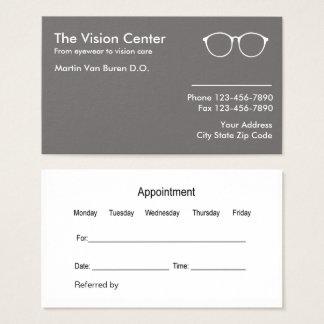 Tarjeta De Visita Optometrista y cuidado de Vision