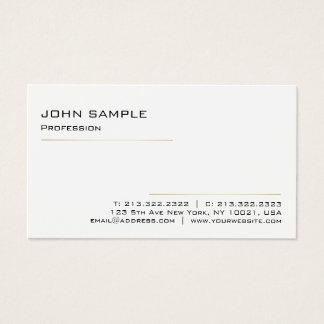Tarjeta De Visita Oro blanco profesional elegante moderno