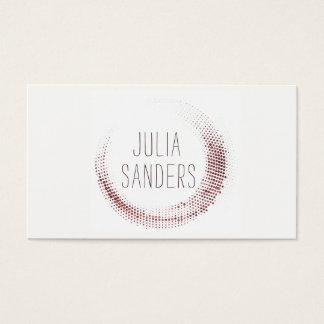 Tarjeta De Visita Oro color de rosa profesional minimalista