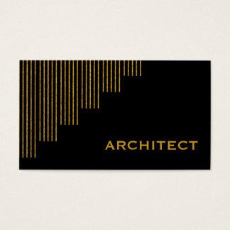 Tarjeta De Visita Oro moderno, arquitecto negro de las rayas