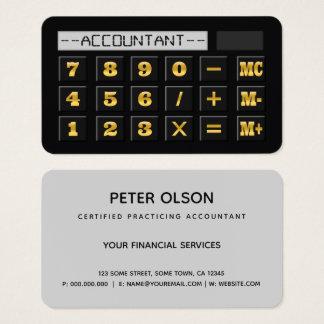 Tarjeta De Visita Oro negro y contable gris del impuesto de CPA de