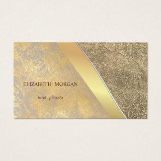 Tarjeta De Visita Oro profesional, falso elegante elegante