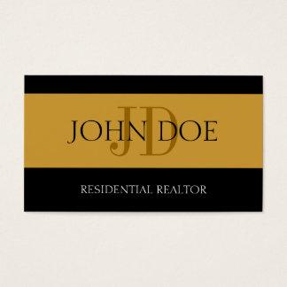 Tarjeta De Visita Oro residencial de la raya del agente inmobiliario