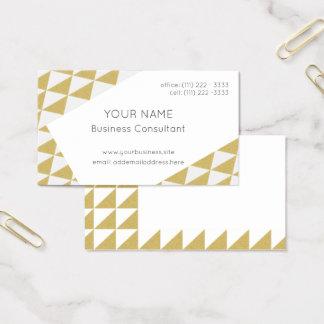 Tarjeta De Visita Oro y blanco del modelo del triángulo