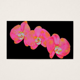 Tarjeta De Visita Orquídeas rosadas
