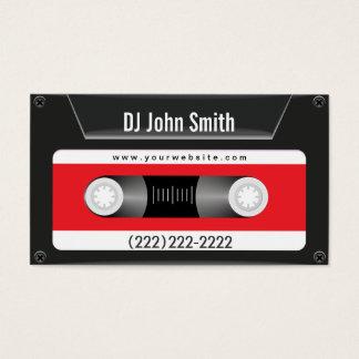 Tarjeta de visita oscura de DJ de la música de la