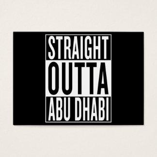 Tarjeta De Visita outta recto Abu Dhabi