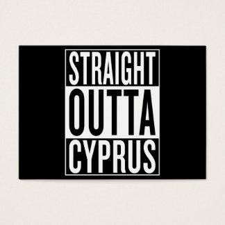 Tarjeta De Visita outta recto Chipre