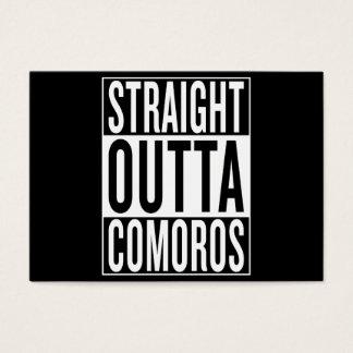 Tarjeta De Visita outta recto los Comoro