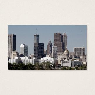 Tarjeta De Visita Paisaje urbano de Atlanta Georgia