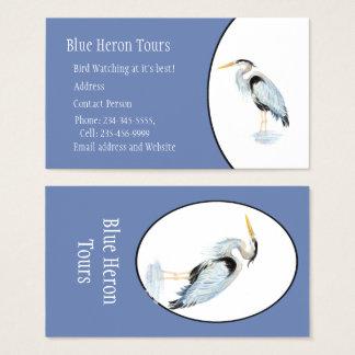 Tarjeta De Visita Pájaro de encargo de la garza de gran azul de la