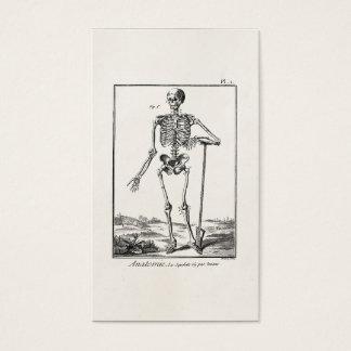 Tarjeta De Visita Pala del vintage que cultiva la anatomía