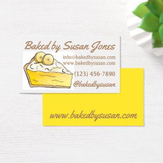 Tarjeta De Visita Panadería amarilla de la tarta de crema del