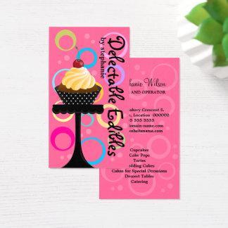 Tarjeta De Visita Panadería colorida de la magdalena