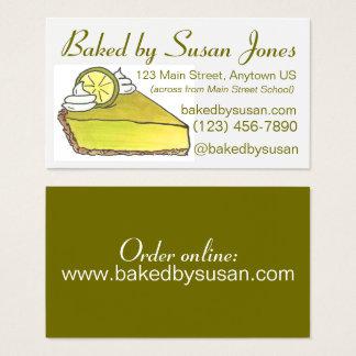 Tarjeta De Visita Panadería de la empanada de la lima agria de la
