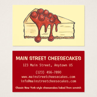 Tarjeta De Visita Panadería del pastel de queso de NYC New York City