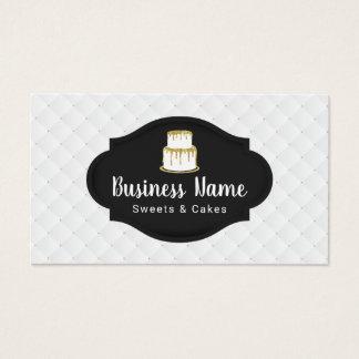 Tarjeta De Visita Panadería dulce del boutique del logotipo de la