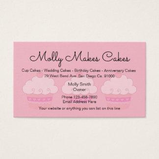 Tarjeta De Visita Panadería rosada Businesscards de la magdalena