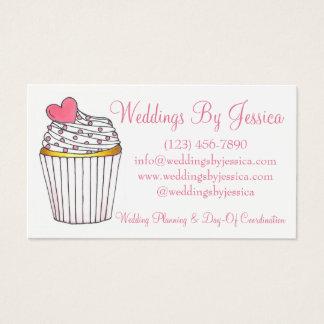 Tarjeta De Visita Panadería rosada del planificador del boda de la