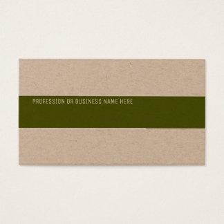 Tarjeta De Visita papel de Kraft superior con una raya verde