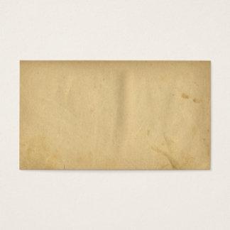 Tarjeta De Visita Papel en blanco manchado antigüedad del amarillo
