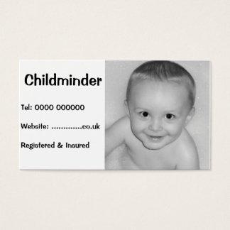 Tarjeta de visita para el cuidado de niños