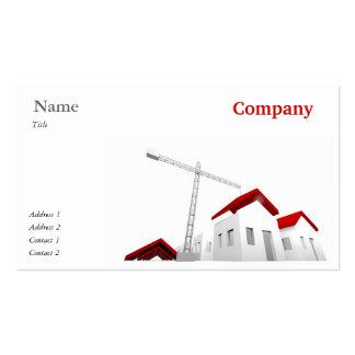 Tarjeta de visita para la empresa de la construcci