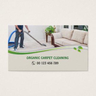 Tarjeta de visita para los limpiadores orgánicos