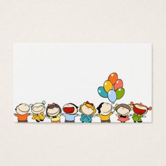 tarjeta de visita para los niños